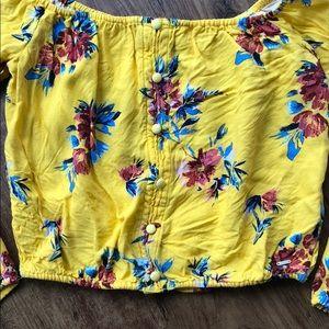 Guess Tops - Floral Long Sleev Crop Top